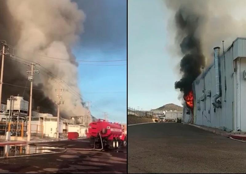 Se incendian maquilas en parque industrial de Guaymas