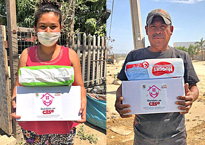Continúa la entrega de despensas casa por casa a personas vulnerables