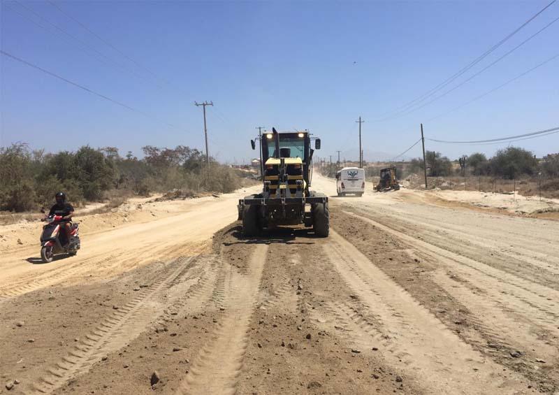 Continúa mantenimiento  de la avenida Nicolás  Tamaral en CSL