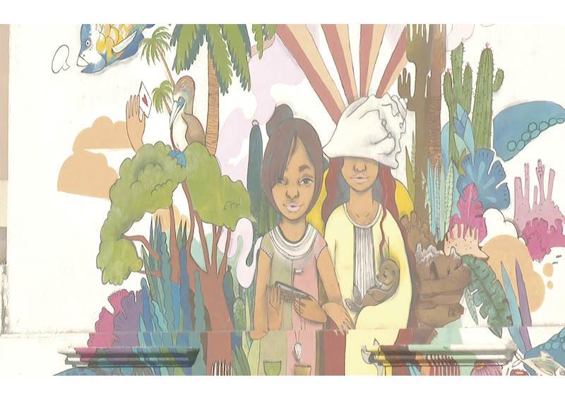 """Programa """"Ciudad Marina"""" a punto de llegar a 50 murales en La Paz"""