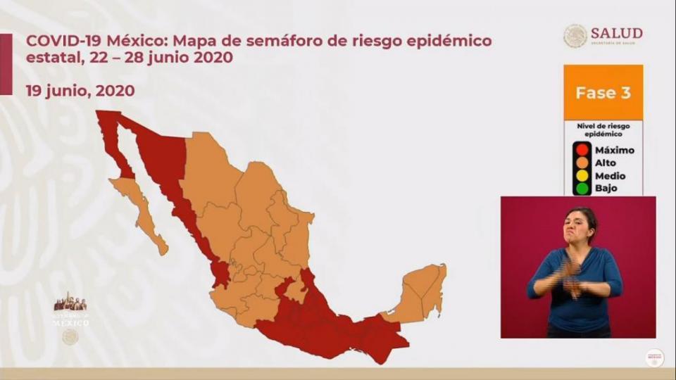 Semáforo para el 22: BCS y Jalisco en naranja; Nayarit, rojo