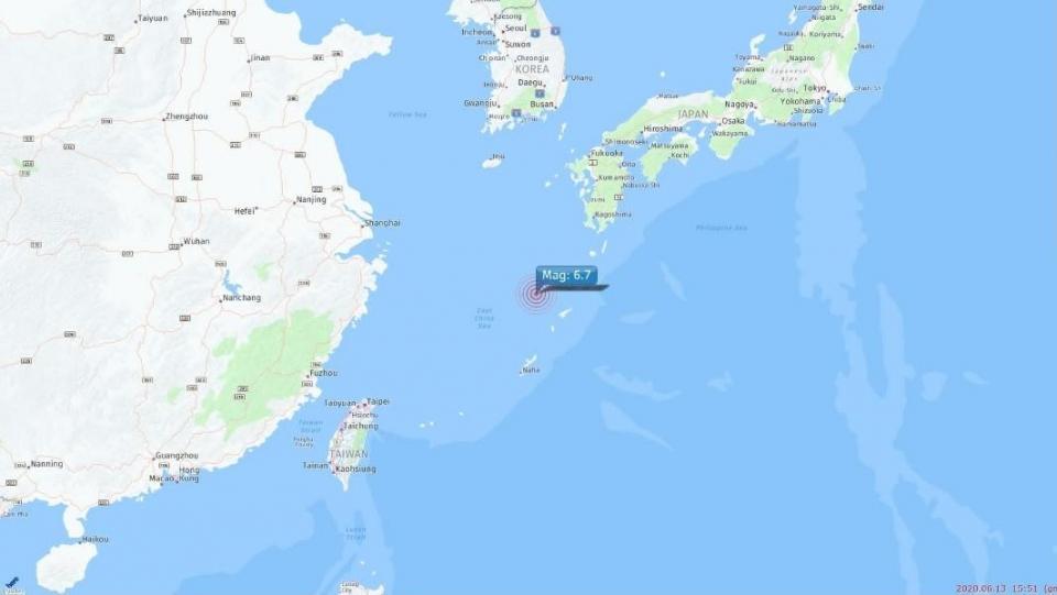 Se registra un sismo de magnitud 6,7 cerca de las islas Ryukyu