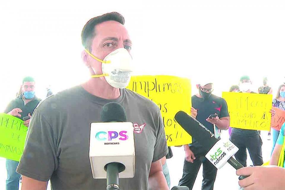 Manifestación  en Palacio de Gobierno; piden reactivación de gimnasios