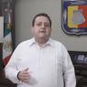 Gobernador de Baja California Sur dando un mensaje a través de redes sociales
