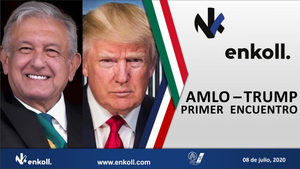 Confronta a mexicanos encuentro AMLO-TRUMP, encuesta Enkoll