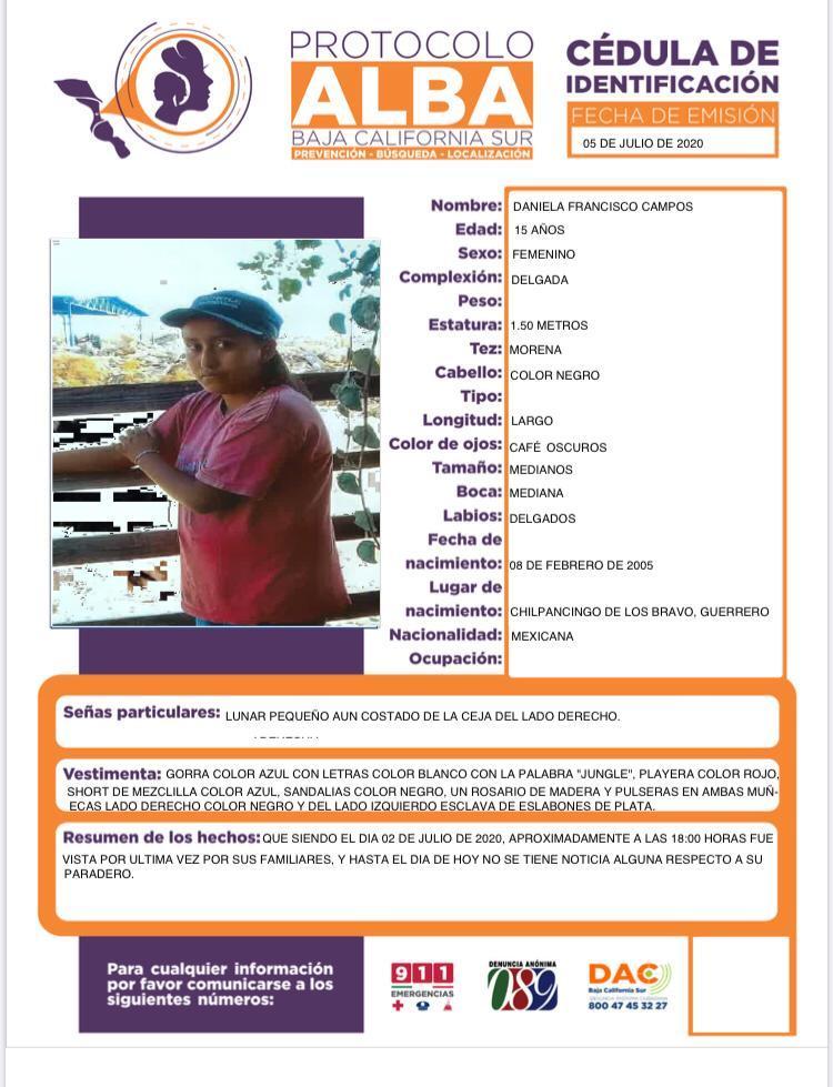 Mujer desaparecida en La Paz
