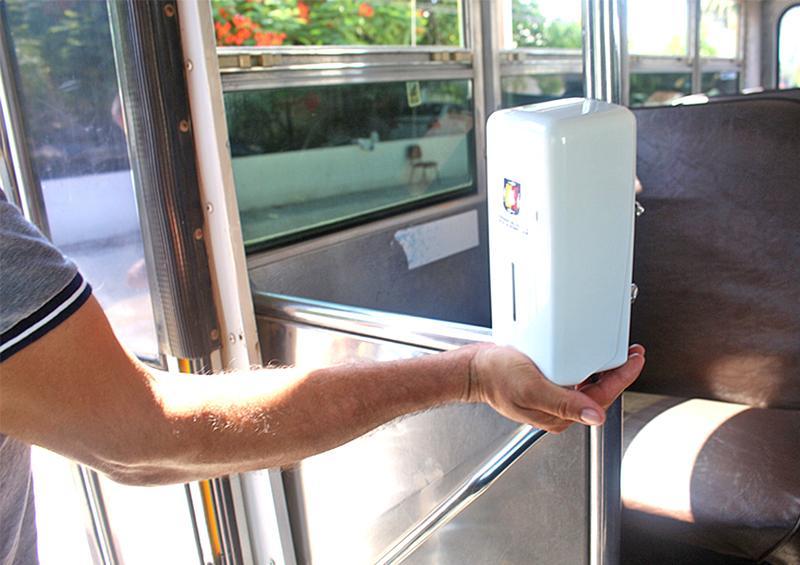 Refuerzan Prevención  de Covid en transporte público