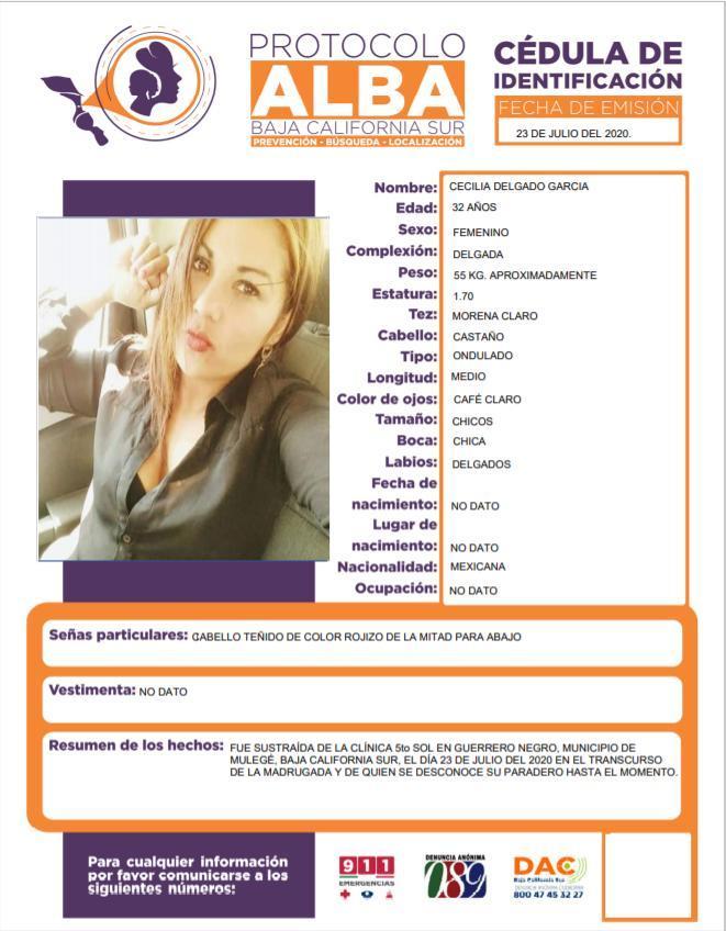 Se reporta la desaparición de 2 mujeres en hospital de Mulegé