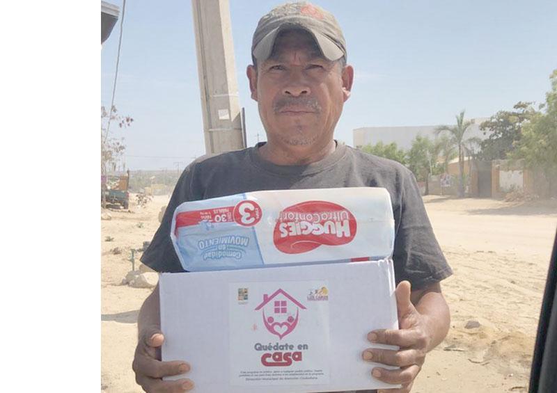 Más de 80 hogares reciben apoyo del DIF Los Cabos