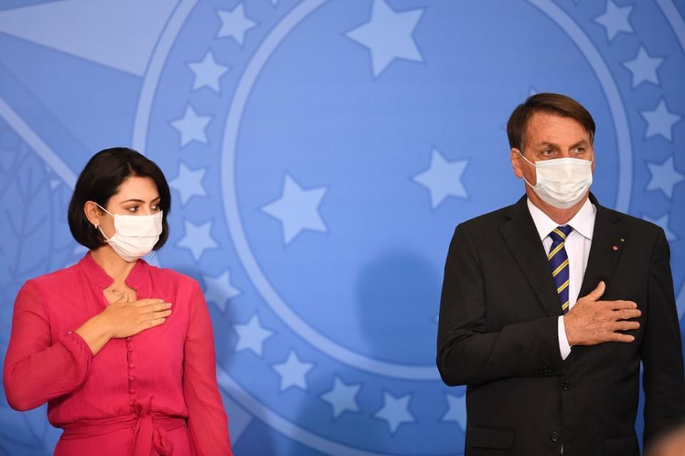 Michelle Bolsonaro junto a Jair Bolsonaro