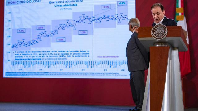 Alfonso Durazo en conferencia de prensa