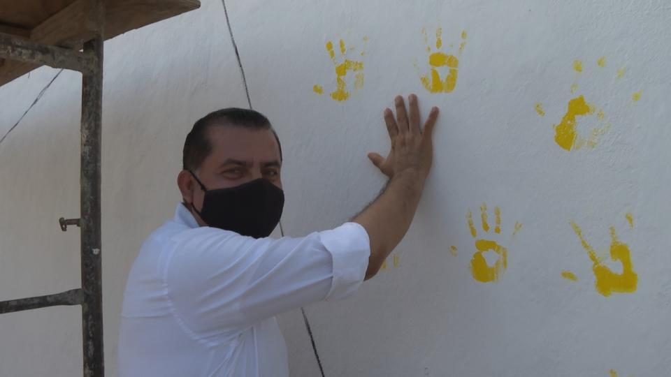 Inician mural de la unidad y agradecimiento a Sector Salud en SDC
