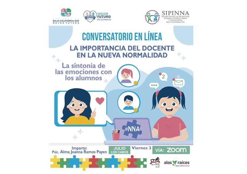 Imparte Sipinna conversatorio dirigido a docentes de Los Cabos