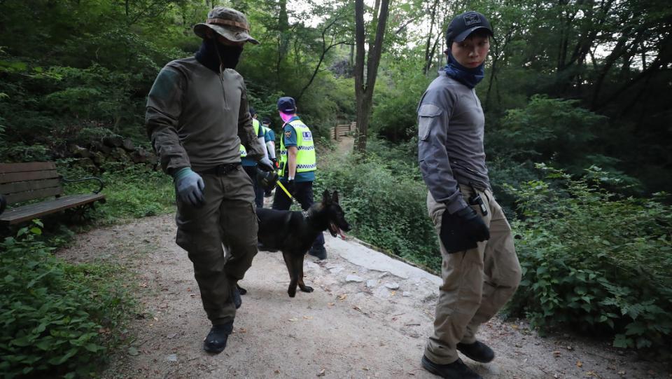 Equipo de búsqueda y rescate en Corea del Sur