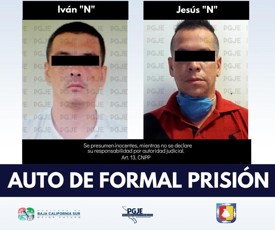 Sujetos detenidos por la fiscalía