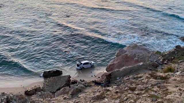 a curva del mirador de Costa Azul en San José del Cabo,