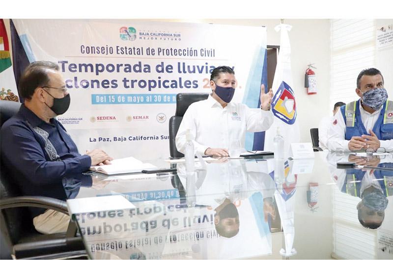 Consejo Estatal de Protección Civil da seguimiento a tormentas tropicales 'Hernán' e 'Iselle': Álvaro de la Peña