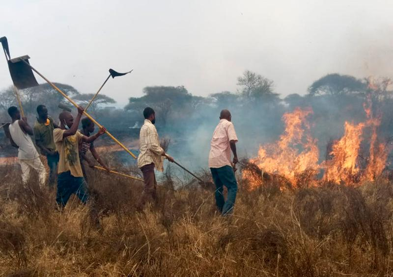 Incendio Kenia