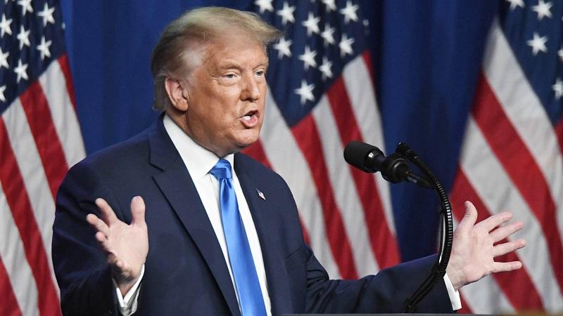 Donald Trump la Convención Nacional Republicana en el Centro de Convenciones de Charlotte el 24 de agosto de 2020 en Charlotte, Carolina del Norte.