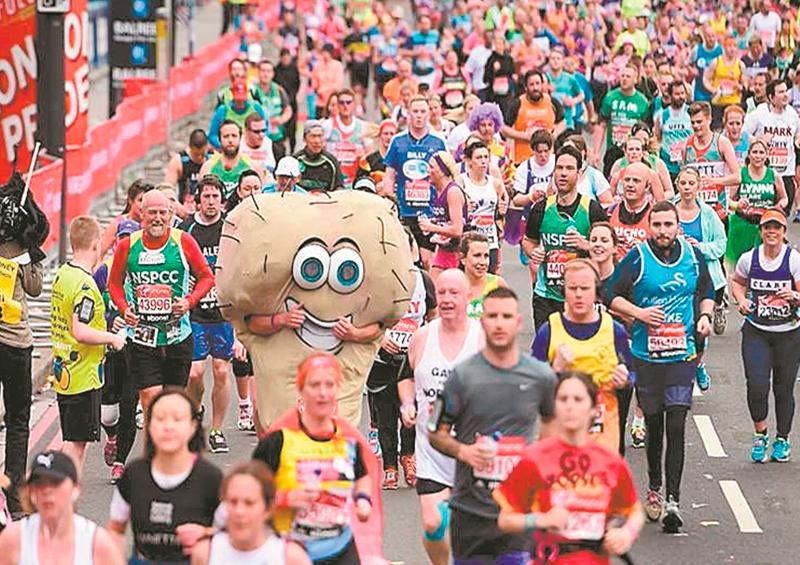 Corredores maratón