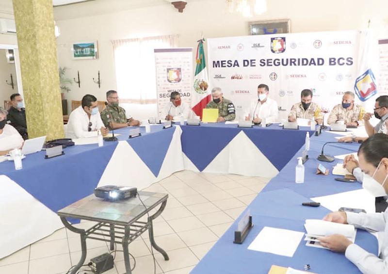 Sesiona Mesa de Seguridad en Vizcaíno: De la Peña