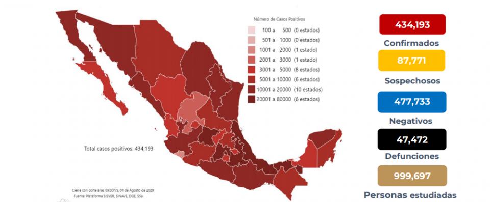 Mapa de casos Covid