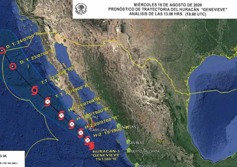Se espera que para esta tarde noche el huracán se encuentre muy cerca de Los Cabos.