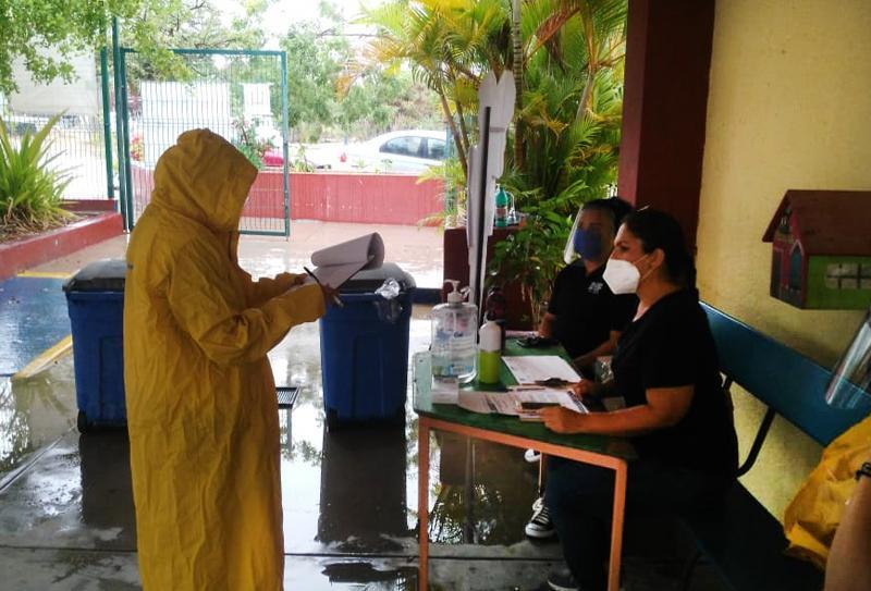 Verifica Salud coordinación sanitaria de refugios temporales