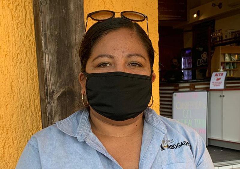 Beatriz Torres, representante legal del responsable del accidente en El Médano