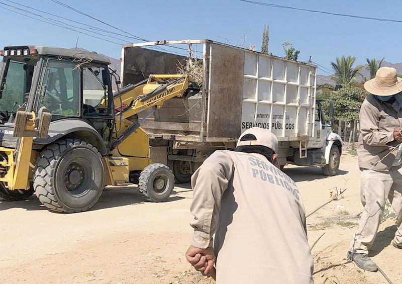 Retiran más de 15 mil toneladas de ramas, basura y cacharros de calles cabeñas
