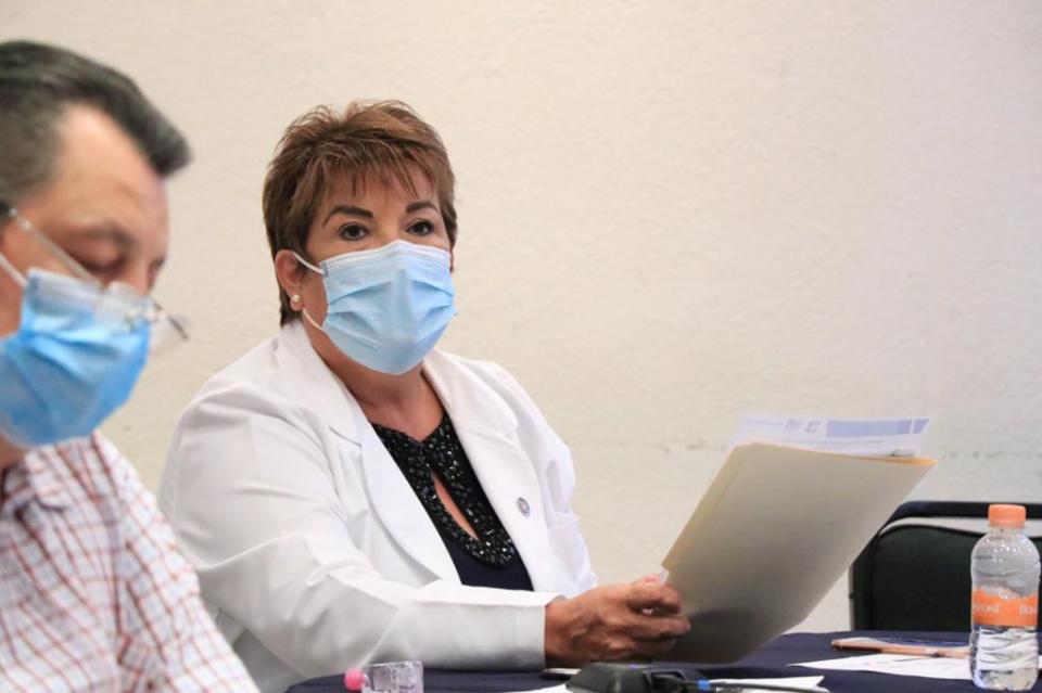 Blanca Pulido Medrano, titular de la Comisión Estatal de Riesgos Sanitarios (Coepris)