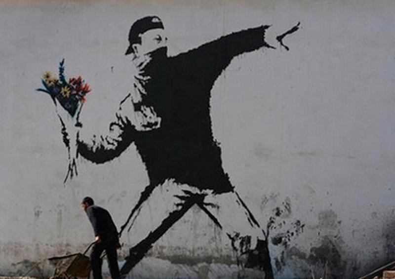 Banksy Lanzador de flores