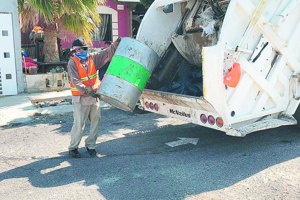Cubiertas 85% las rutas de recolección de basura  en Los Cabos