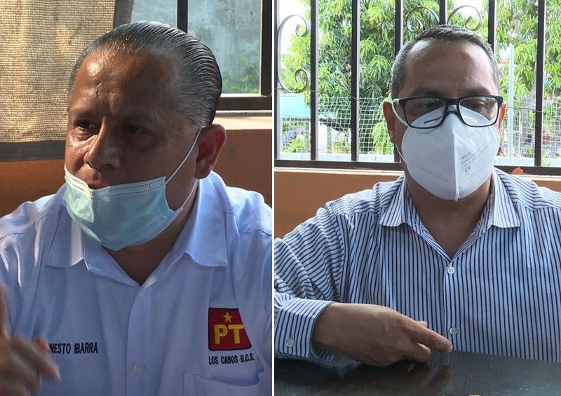 Luis Armando Díaz, Ernesto Ibarra Montoya y Antonio Agúndez