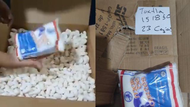 Bolsas de sal en paquetería