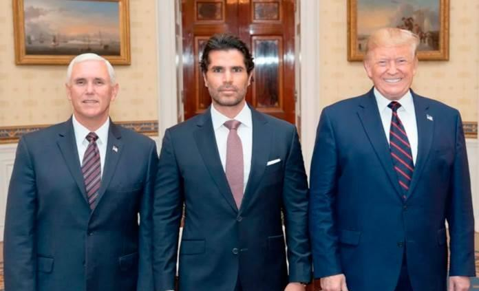 Eduardo Verastegui con Donald Trump
