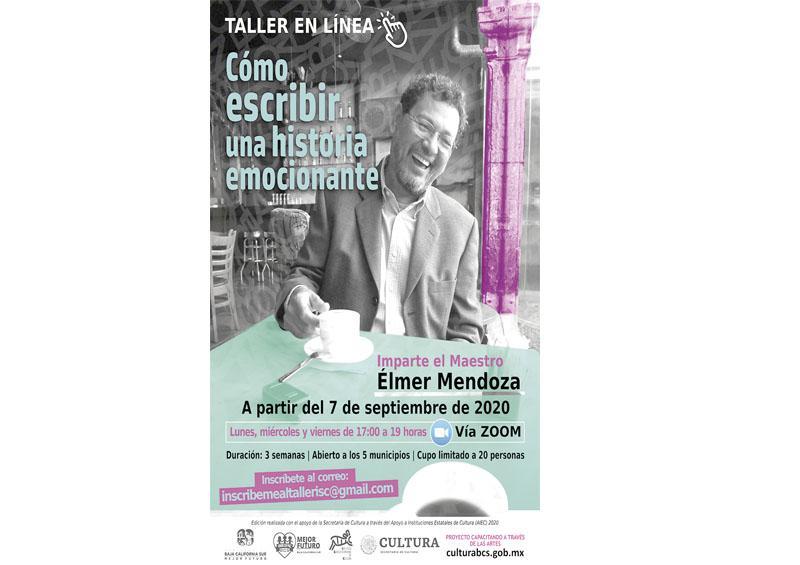 Impartirá escritor Elmer Mendoza curso en línea: Instituto de Cultura