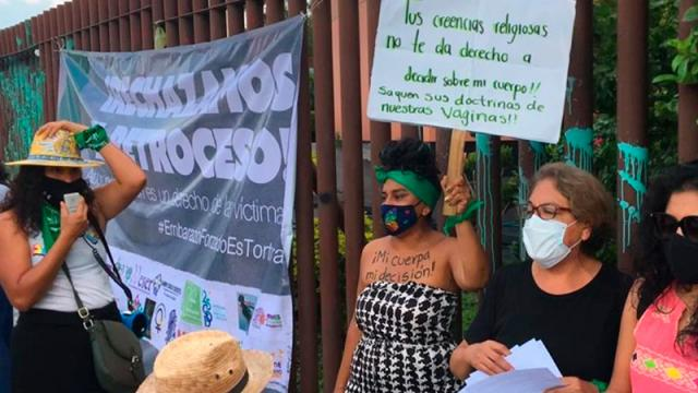 rotestan por negativa a despenalizar aborto en Guerrero