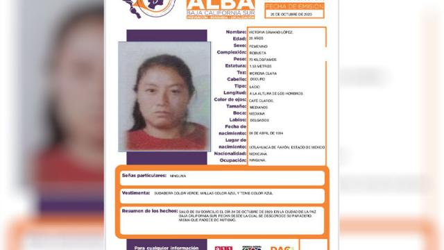 Desapareció en La Paz, el sábado 24 de octubre