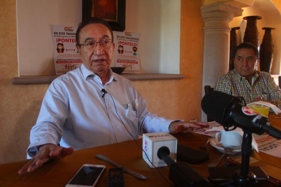 Isaías González Cuevas, secretario general de la CROC
