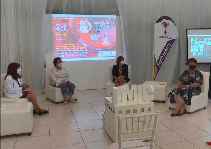 """Instituto de las Mujeres imparte taller por el """"Día Internacional para la Eliminación de la Violencia contras las Mujeres""""."""