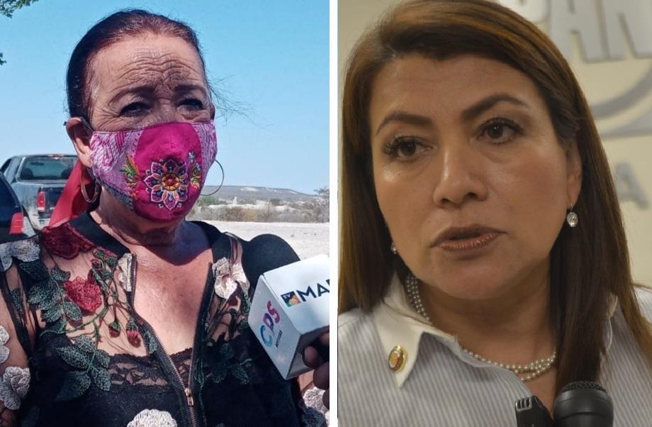 Lucía Trasviña y Lupita Saldaña