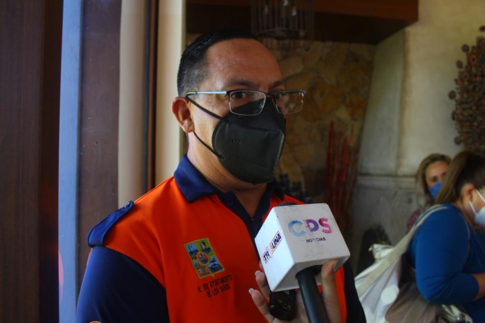 Erick Santillán director municipal de Protección Civil