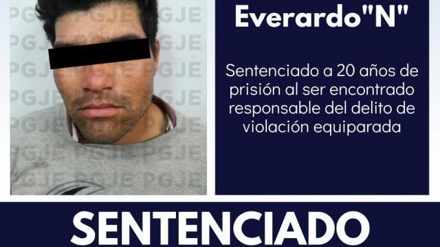 Sentenciado por violación a menor de edad