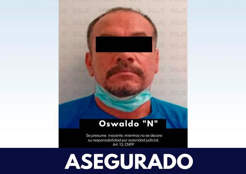 PGJE asegura a sujeto en La Paz con arma, cartuchos y vehículo.