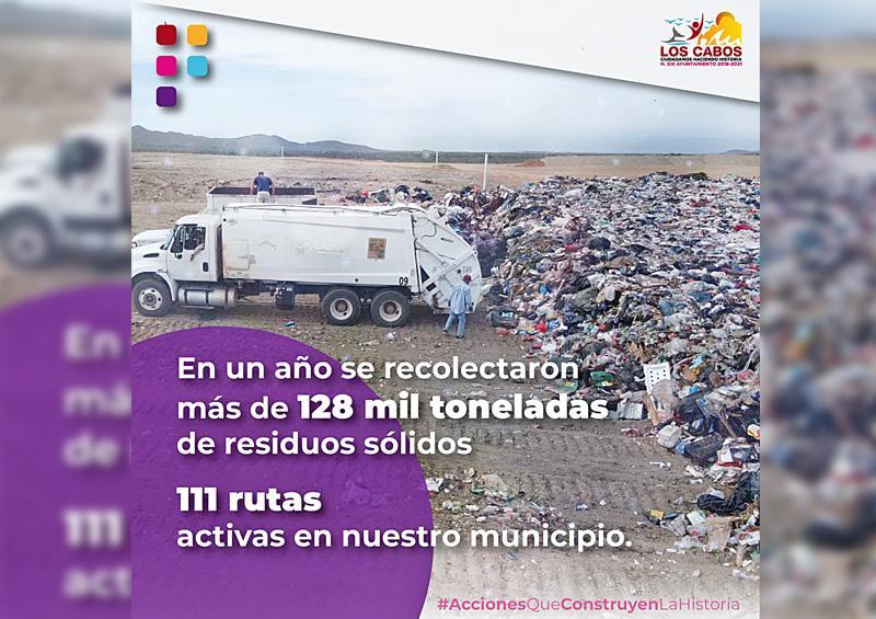 En un año retiran más de 128 mil toneladas de basura doméstica