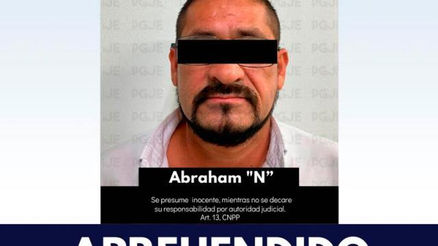 """Por delito de daños PGJE aprende a Abraham """"N"""""""