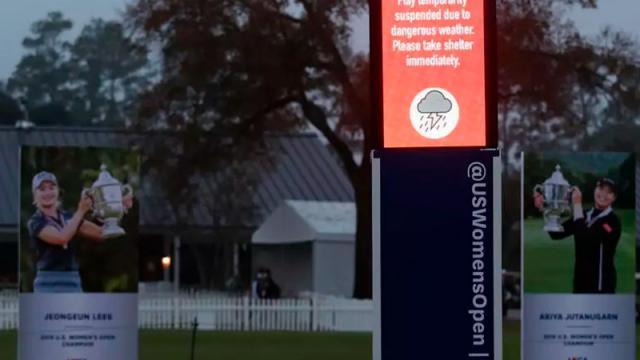 Golf: aplazada la última ronda del US Women's Open por tormenta
