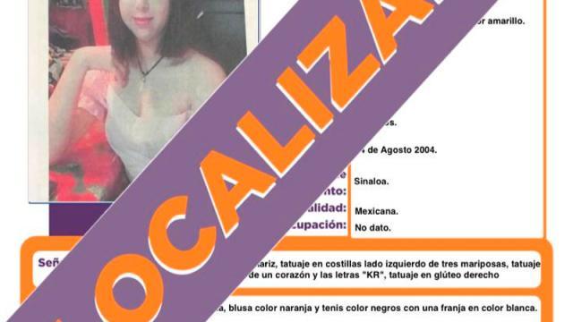 Localizan a la joven Dana Guadalupe Osuna Grajales