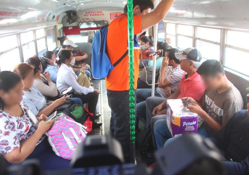 Falta de protocoles de salud en transporte Público